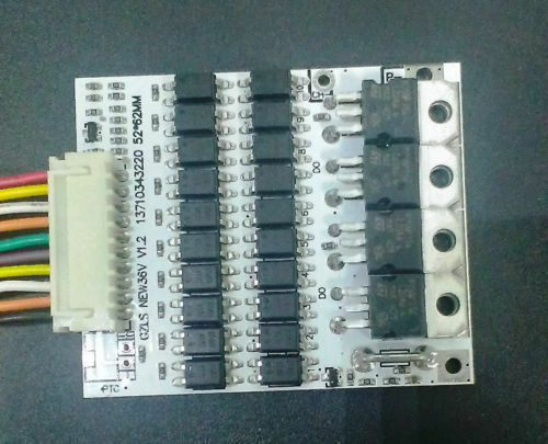 Battery Protection BMS PCB Board for 10 Packs 36V Li-ion Cell Batterie  max 40A