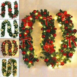 9ft-Christmas-Garland-XMAS-Decorations-Imperial-Pine-Fireplace-Wreath-Ornaments