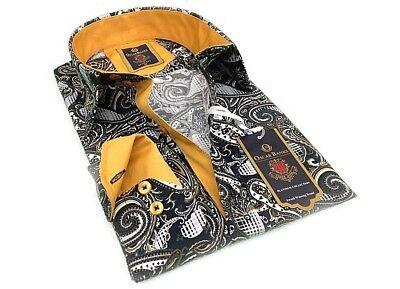 Men Oscar Banks Turkey Shirt All Egyptian Cotton Wrinkle less 5849-04 Red Check