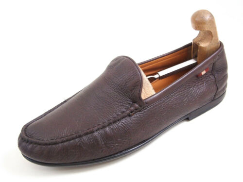 Bally Moccasin Loafers Brown Leather Men Size EU 4