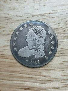 1821 Capped Bust Quarter, 2/24/21, Free Shipping
