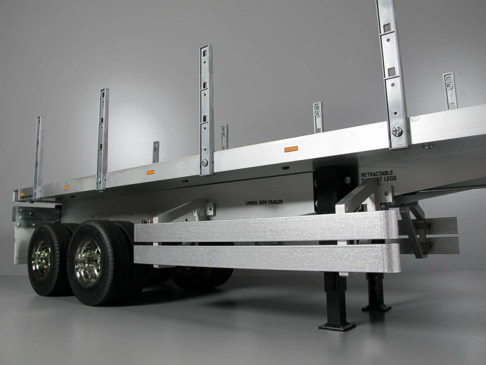 Pair Aluminum Side Bumper Guard Tamiya 1/14 Flatbed Trailer Tanker Container