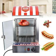 Commercial Bun Food Electric Hot Dog Steamer Warmer Display Machine Countertop