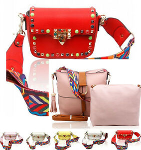 1fb32c3342e Image is loading LeahWard-Faux-Leather-Studded-Cross-Body-Bag-With-