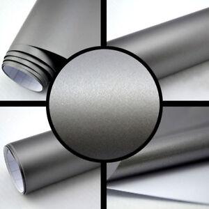 4 89 M 15m X 1 52m Matt Grau Metallic Auto Folie Blasenfrei