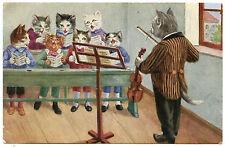 CHATS HUMANISéS. HUMANIZED CATS. LA CHORALE. CHEF D'ORCHESTRE.CHOIR. BANDMASTER