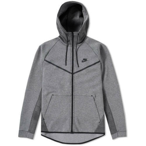 Windrunner Fleece capucha Nuevo Nike Heather para Tech Carbon con Air 3xl hombre Black Sudadera talla S wxFX5YqA