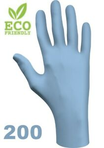 Nitrile-Disposable-Gloves-Biodegradable-Powder-Free-240-mm-Long-Box-of-200