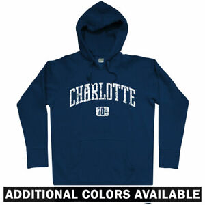 outlet store 3b766 e9c9b Details about Charlotte 704 Hoodie - NC North Carolina Panthers Hornets UNC  49ers - Men S-3XL