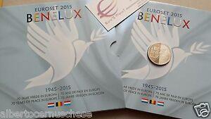 2015 Benelux 24 monete 11,64 euro Belgio Olanda Lussemburgo Belgique Pays bas