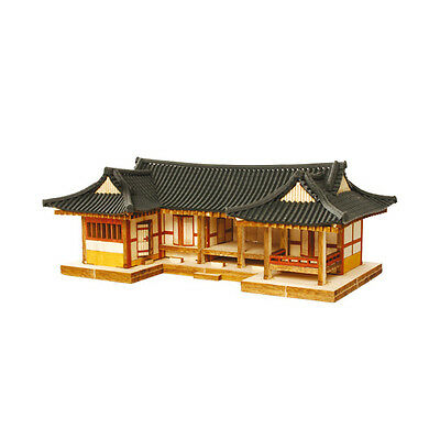 YM610 Ho Series / ㄷ-Shape Tile-roofed House / Wooden Model Kit