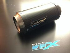 Triumph Street Triple Daytona 675 2013 + Satin Carbon Fiber WERX GP Exhaust Can