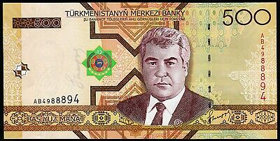 500  MANAT  2005 Prefix AB P 19  Uncirculated Banknotes TURKMENISTAN