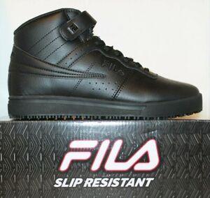 Mens-Fila-Vulc-13-Mid-Slip-Resistant-Non-Slip-Skid-Work-Shoes-Black-1LM00350-001