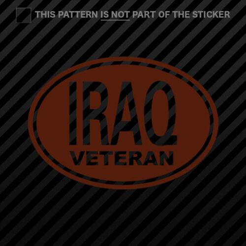 Oval Iraq Veteran Sticker Self Adhesive Vinyl 2x