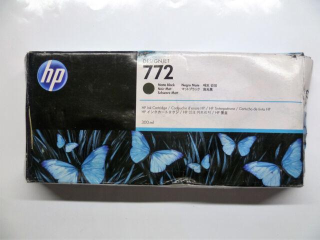 HP 772 matte black schwarz matt DesignJet Z5200 Z5400 300ml CN635A  -OVP 07/2017