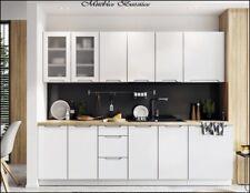 Muebles de Cocina Completa 260 cms ref-65 en color Blanco Mate
