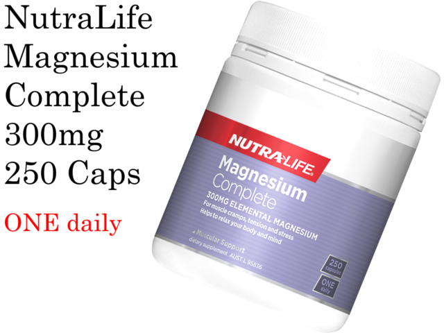 NutraLife Magnesium Complete 300mg 250 capsules