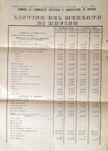 4a7f837ef6 Caricamento dell'immagine in corso ROVIGO-1959-LISTINO-DEL-MERCATO-DI- CEREALI-LEGUMI-