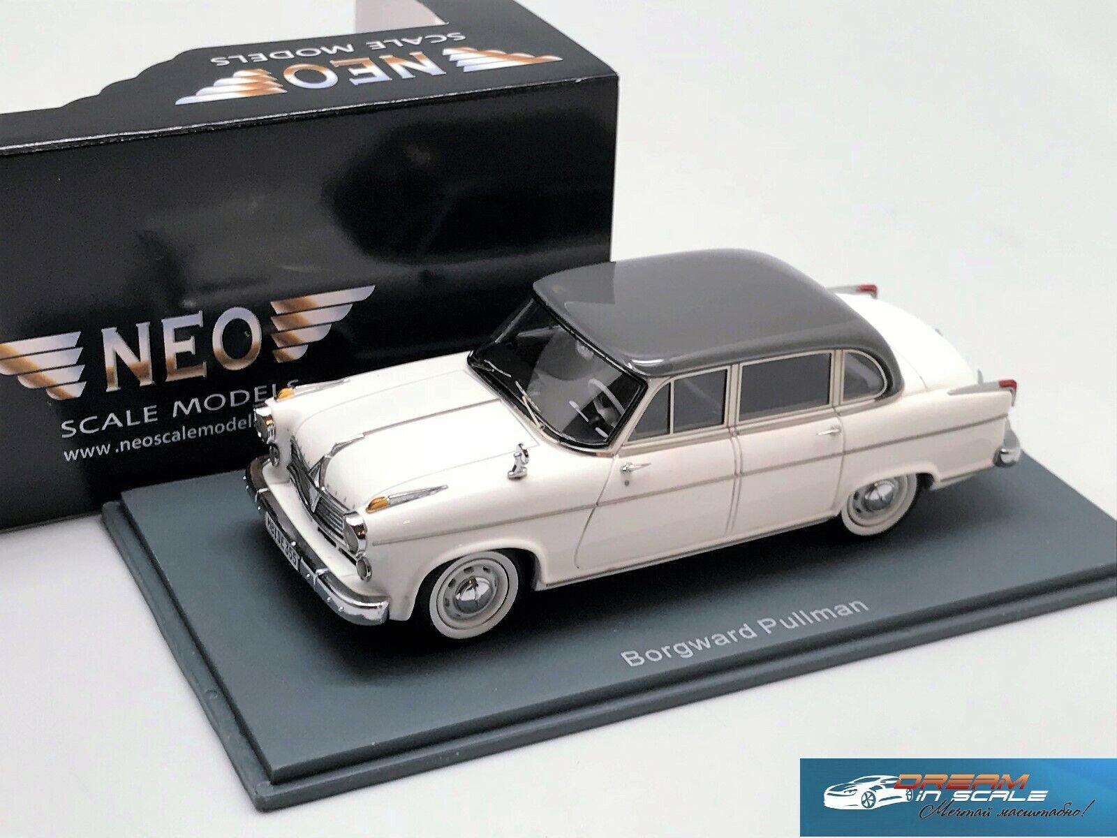 Borgward 2400 Pullmann 1955 -1958 Grau   Weiß NEO44355 1 43