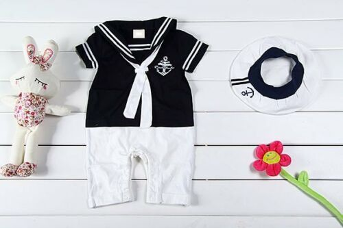 Baby Boy Girl Sailor Marine Carnival Fancy Party Costume Outfit Cloth Dress Set