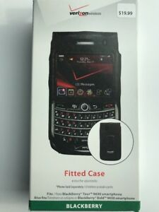 New-OEM-Verizon-Fitted-Leather-Case-for-Blackberry-Bold-9650-Tour-9630-Black