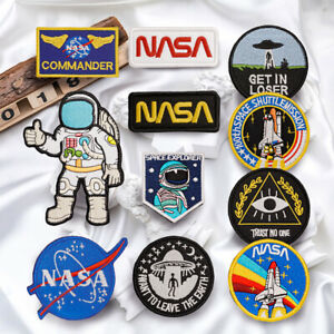 NASA-Astronaut-Embroidered-Sew-On-Hook-Loop-Patch-Badge-Bag-Fabric-Craft-Sticker