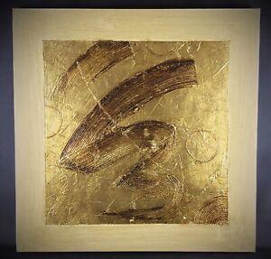 Tableau-abstrait-contemporain-Peinture-sur-huile-tres-rehaussee
