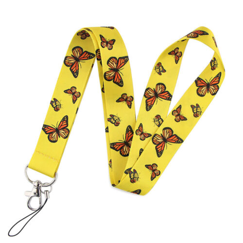 Butterfly Rose Lavender Sunflower Daisy ID Card Holder Lanyard Neck Straps
