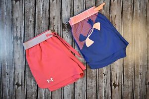 Women-s-Under-Armour-Play-Up-Athletic-Running-Shorts-Lot-Of-2-Size-Small