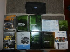 ford super duty owners manual  black case ebay