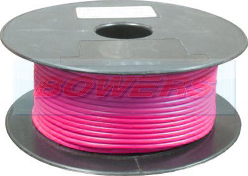 100M PINK THIN WALL SINGLE CORE CABLE WIRE 11A 16//0.20 0.5MM AUTO CAR MARINE
