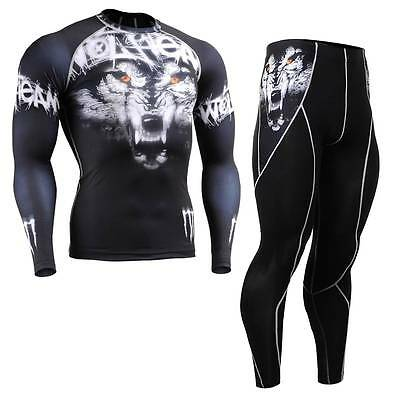 FIXGEAR CFL/P2L-B18 SET Compression Shirts & Pants Skin Tights MMA Training Gym