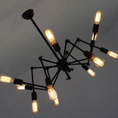 HL421 215 LED 12 Kopf einstellbare Spinne Kronleuchter Vintage Pendelleuchte ind
