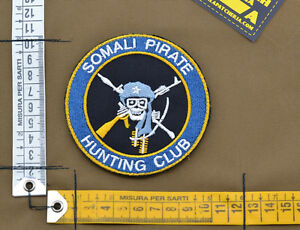 Ricamata-Embroidered-Patch-034-Somali-Pirate-Hunting-034-with-VELCRO-brand-hook