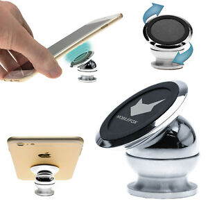 Universal-Auto-Halter-KFZ-Halterung-Magnet-Kugelkopf-Handy-Smartphone-Mobilefox