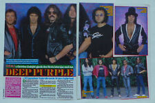 Deep Purple Ritchie Blackmore John Lord 2 1/2 pages clippings cuttings + Dragon