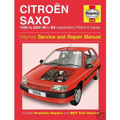 Haynes Citroen Saxo VTR VTS 1996-2004 Manual 3506 NEW