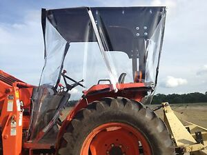 Image is loading Kubota-4-Sided-Farm-Tractor-Cab-&-Canopy- & Kubota 4-Sided Farm Tractor Cab u0026 Canopy Top