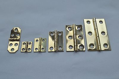 "small cabinets Polished Solid Brass Butt Hinges for Boxes Prokraft /""K/"" Range"