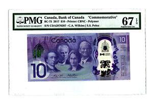 Canada $10 Viola Desmond 2018 PMG 67 EPQ  First release See Des.