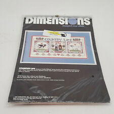 Dimensions Country Life Stamped Cross Stitch Kit Cow Sheep Farmer 16x8 NOS 3091