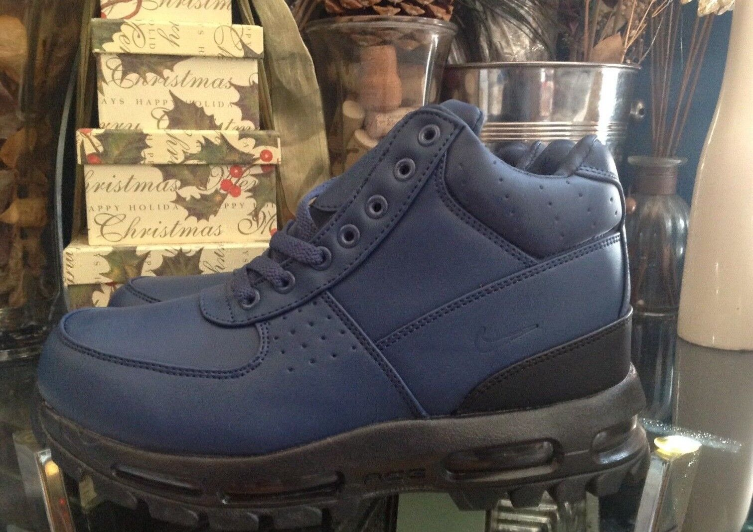 Nike Air Max Goadome ACG Leather Boot Navy Blue Men's Size 7-13 New Free Shippin