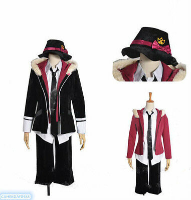 Diabolik Lovers Reiji Sakamaki Cosplay Costume  Childhood Vest Uniform Free Ship