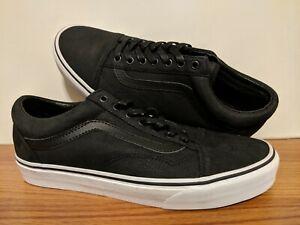 VANS MENS SHOES Old Skool Leather Black & True White US Size