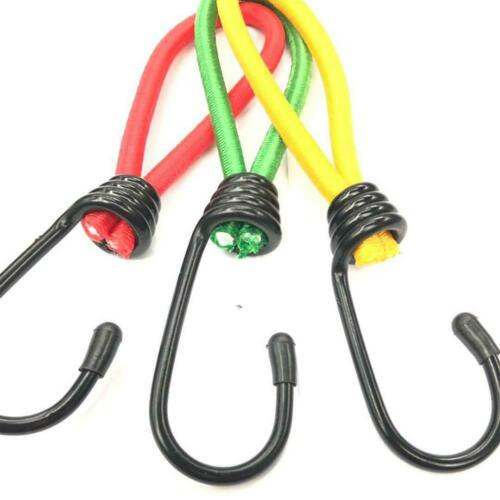 3//5PCS Bungee Cord W// hook Elastic Rope Fixed Strap for Tarps Camping Tents New
