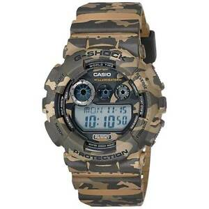 Casio Men's Watch G-Shock Dive Digital Dial Brown Resin Strap GD120CM-5