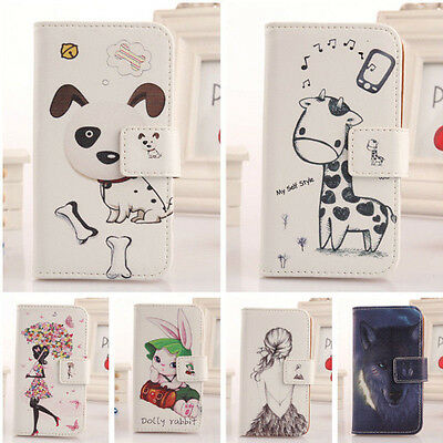 Cute Card Flip PU Leather Case Cover Protection For Samsung Smartphone New