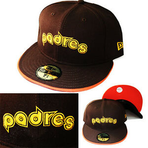 New-Era-MLB-San-Diego-Padres-Classic-5950-Fitted-Hat-Brown-Vintage-Cap