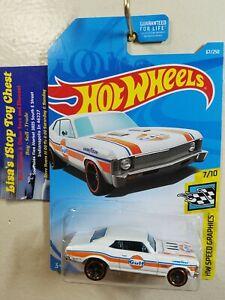 2018 Hot Wheels HW Speed Graphics '68 Chevy Nova #67 White